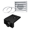 "AC01316 - 5""Ø FRESH AIR INTAKE KIT FOR WOOD STOVE ON LEGS"