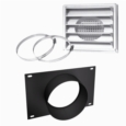 "AC01336 - 5""Ø FRESH AIR INTAKE KIT FOR WOOD STOVE ON PEDESTAL"