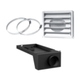 "AC01381 - 5""Ø FRESH AIR INTAKE KIT FOR WOOD STOVE ON LEGS"
