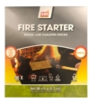 WOOD PARTICLES AND WAX FIRE STARTER