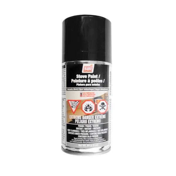 METALLIC BLACK STOVE PAINT - 85 g (3oz) AEROSOL