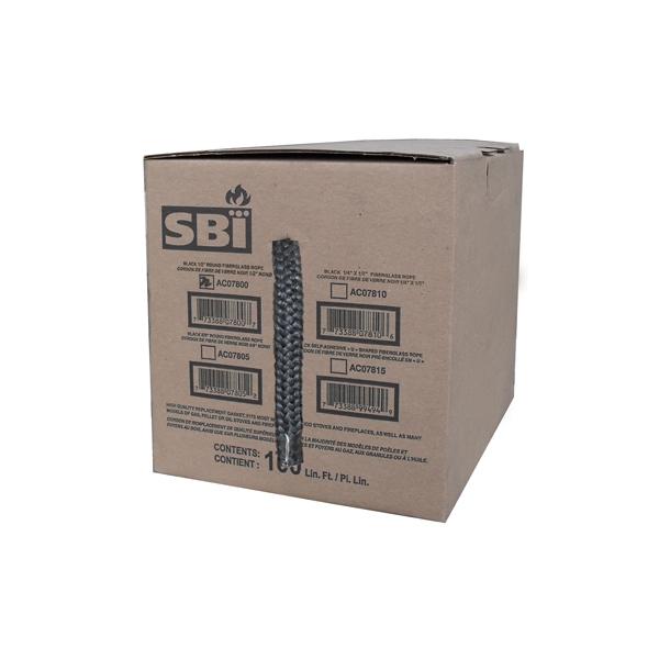"1/2"" X 100' BLACK FIBERGLASS GASKET BOX"