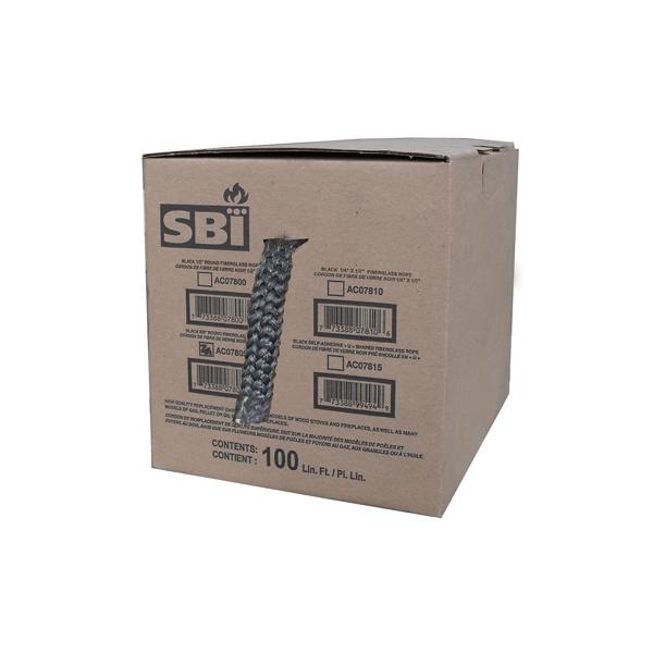 "5/8"" X 100' BLACK FIBERGLASS GASKET BOX"