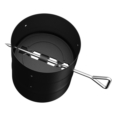 BLACK SINGLE WALL PIPE SECTION WITH DAMPER 6''Ø