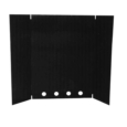 "HEAT SHIELD 42""H- BLACK FL122"